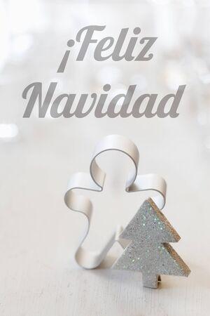 still lifes: Christmas still life with cutter, Spanish wishes, Feliz Navidad