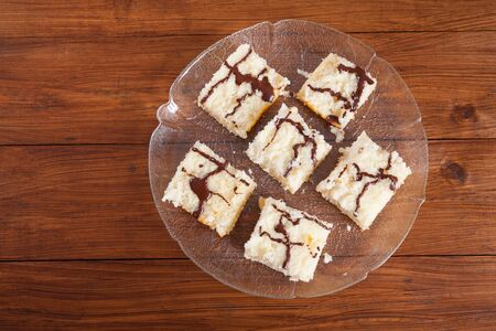 chocolate icing: Sheet cake, coconut cake, chocolate icing
