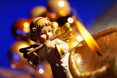 putto: Putto with christmas candle