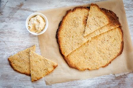hummus: Potato flatbread and hummus