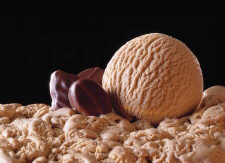 mocca: Scoop, mocca icecream with pralines