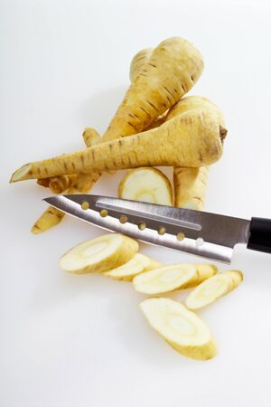parsnips: Parsnips and knife