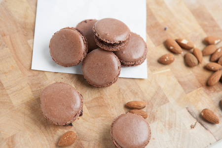 homemade: Home-made macaroons and almonds