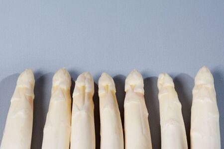 white asparagus: White asparagus, row, copy space