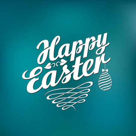 ostern: Happy Easter Typographical Background