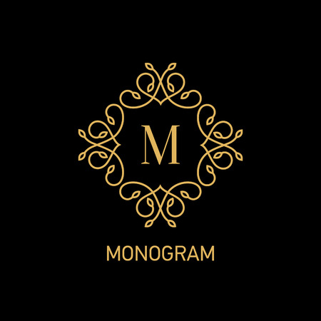 Monogram logo design. Vector illustration