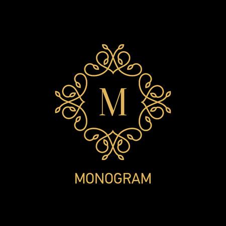 initials: Monogram logo design. Vector illustration