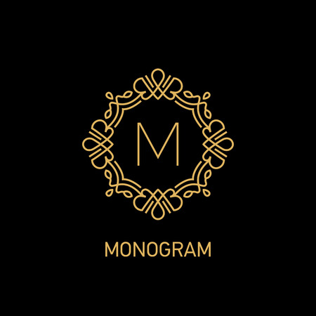 Monogram logo design. Vector illustration