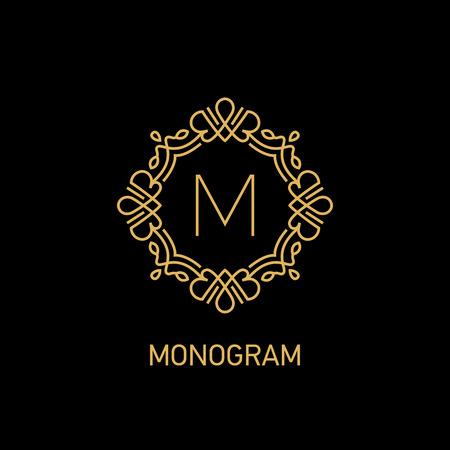Monogram logo ontwerpen. Vector illustratie