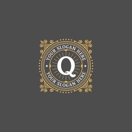 boutique hotel: Plantilla Simple dise�o del monograma con la letra P. elegante del ornamento del marco logo l�nea de dise�o. Bueno para restaurante, Boutique, Hotel, her�ldico, joyer�a.