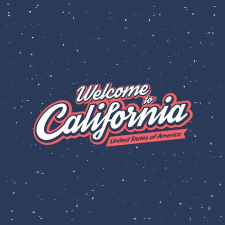 tshirts: Welcome to California. Calligraphic t-shirt apparel fashion design.  Vector design. Illustration