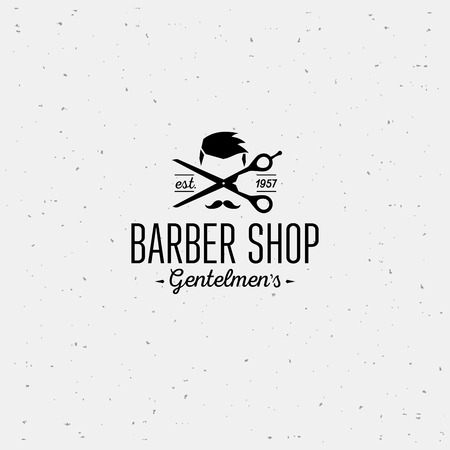 Vintage barber shop emblems. Typographic design template.