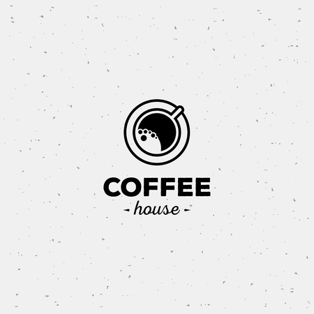 cafe latte: Coffee cup vector logo design template. Vector coffee shop labels.