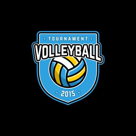 Vector volleybal toernooi pictogram met bal. Sport badge voor toernooi of kampioenschap.