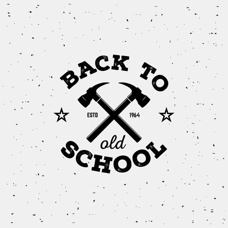 Old school style label. Hipster print for t-shirt. Vector typography.