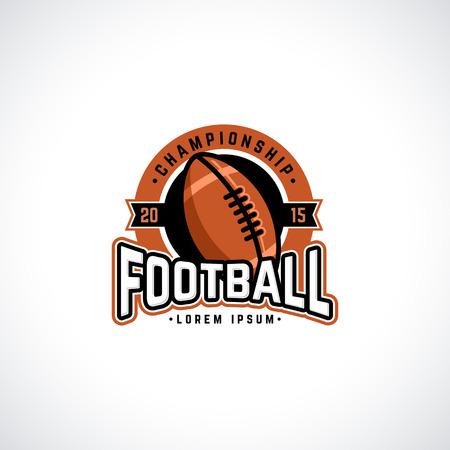 Vector kampioenschap voetbal met bal. Sport badge voor toernooi of kampioenschap. Stock Illustratie