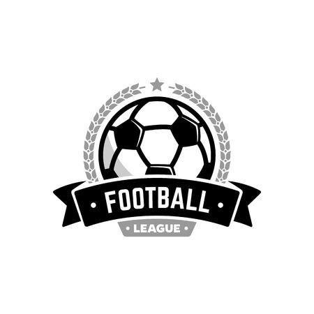 Vector voetbalcompetitie met de bal. Sport badge voor toernooi kampioenschap of competitie.