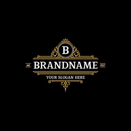 sjabloon kalligrafische elegante ornament lijnen. Teken voor Restaurant, Royalty, sieraden, Boutique, Cafe, Hotel, Heraldische.