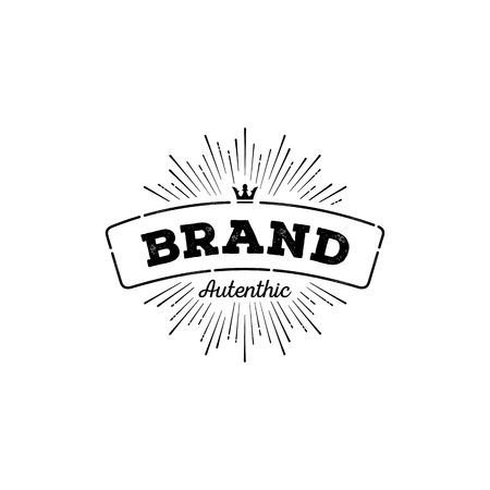 Vintage logo template calligraphic
