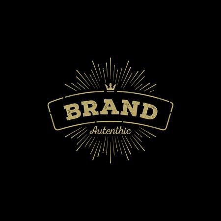 insignia: Retro Vintage Insignia, Logotype, Label or Badge.
