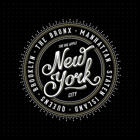 """nowy: Vintage ramki z oznaczeniem hipster """"Nowy Jork, Brooklyn, Manhattan, Queens, Bronx, Staten Island 'dla plakatu, znaczek, t-shirt odzieży druku. Ilustracja wektora."""