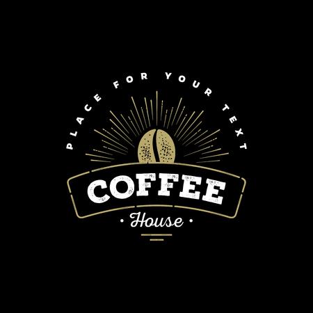 Premium Coffee Label, Coffee Badge, Coffee Emblem. Sign for Restaurant, Cafe, Shop. Vector illustration.