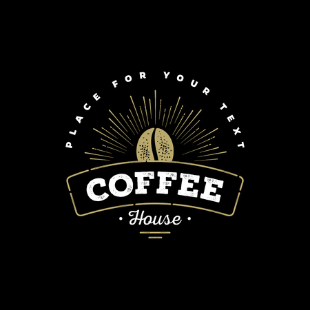 Premium Etiket van de Koffie, koffie Badge, koffie Emblem. Teken voor Restaurant, Cafe, Winkel. Vector illustratie.