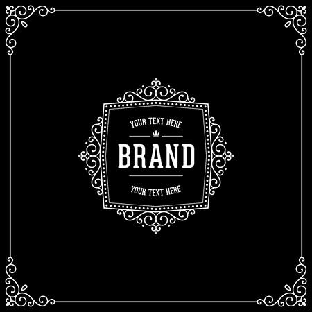 boutique hotel: Señal de lujo caligráfico. elementos de decoración elegante emblema. diseño de cosecha. Muestra para la cafetería, tienda, restaurante, boutique, hotel, heráldica, moda. Vectores