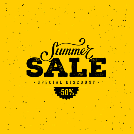 Summer Sale banner. Vintage design. Vector illustration.