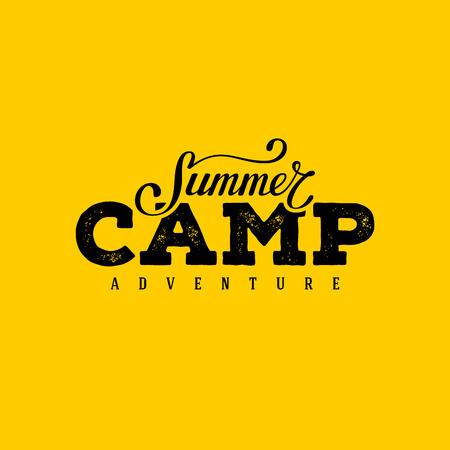 Summer Camp typography design. Design for t-shirt print,  postcard or poster. Vector illustration.