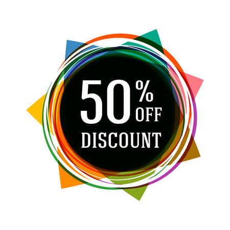 discount banner: Sale banner. Sale discount tag.