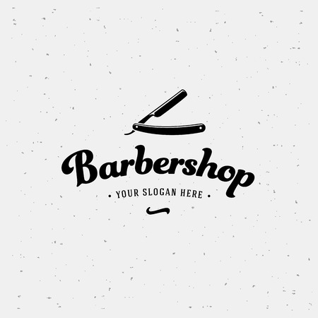 male grooming: Barbershop calligraphy sign. Design Template. Vector illustration.