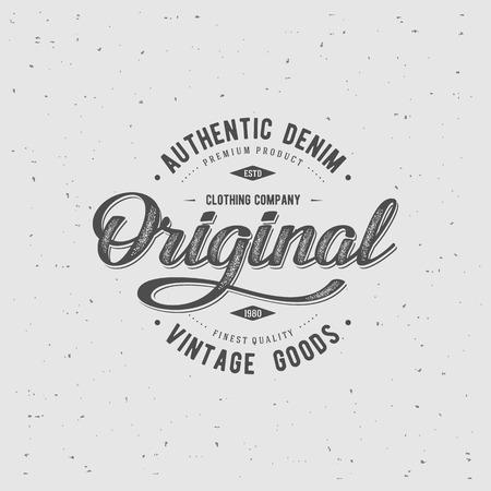 original: Original typography for t-shirt print. Apparel fashion design. Vector illustration Illustration