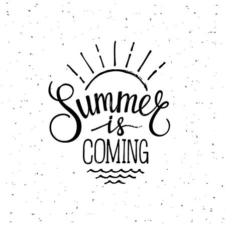 Summer is coming Stock Illustratie