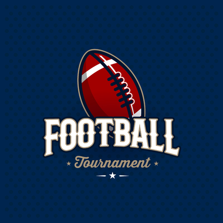 Football emblem blue Vettoriali
