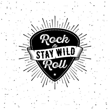 Rock n Roll white Stock Illustratie