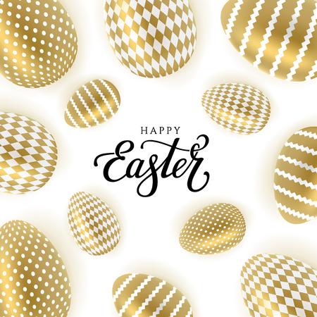 Easter gold eggs Stock Photo - 96710972