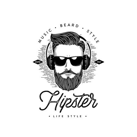 Hipster life style Beard man. Vector illustration Ilustração Vetorial