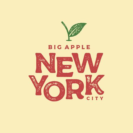 New York city typography design. For apparel, t-shirt, print, home decor elements, greeting card, poster. Vector illustration Çizim