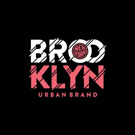 Brooklyn urban brand pink. Typography, t-shirt graphics, poster, print, banner flyer postcard Vector illustration 写真素材 - 129677839