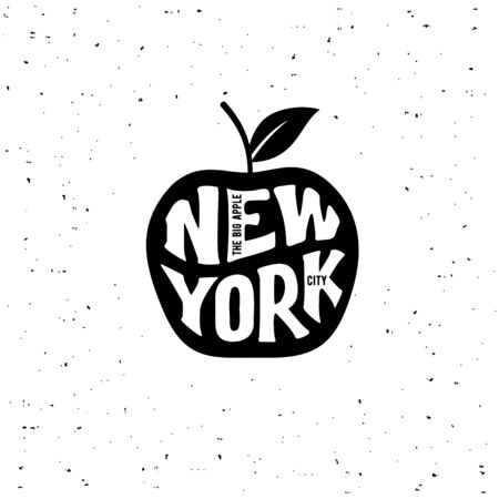 New York city typography design. For apparel, t-shirt, print, home decor elements, greeting card, poster. Vector illustration Ilustrace