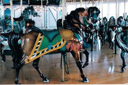 jMerry-go-round pony