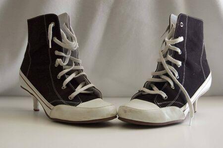 high heel sneakers Stock fotó