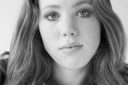 head shot of a young woman