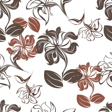 succulent: Succulent Plants Seamless Floral Pattern Background - Illustration