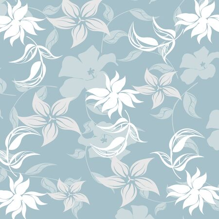 seamless floral: Seamless Floral Pattern Background - Illustration