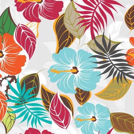 Naadloze illustratie van de bloem Floral Pattern Texture Art Vector Illustratie