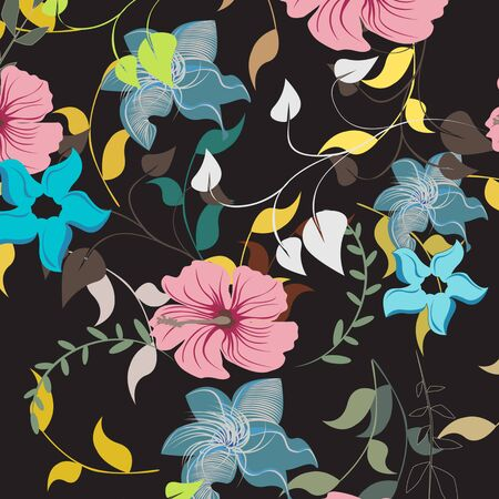plant design: Seamless  flower illustration  floral pattern texture art