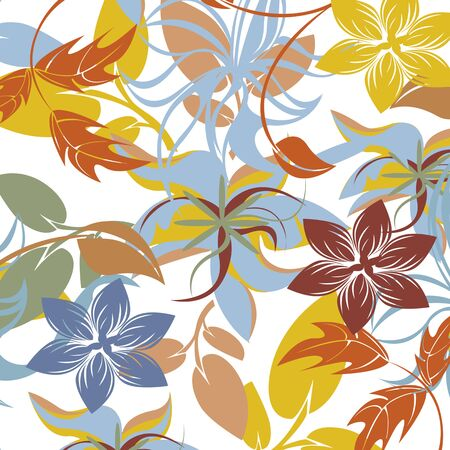Seamless  flower illustration  floral pattern texture art