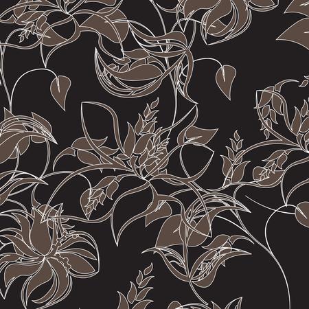 moss: Seamless  flower illustration  floral pattern texture art